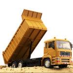 New              1/24 2.4G RC Car Dump Engineer Truck W/ Music Light Children Vehicle Models Toy