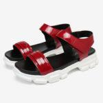New              LOSTISY Women Comfy Slip Resistant Hook Loop Casual Sports Sandals