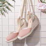 New              LOSTISY Women Espadrilles Strappy Casual Summer Wedge Sandals