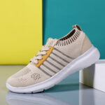 New              Women Casual Breathable Knitted Lightweight Running Sneakers