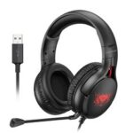 New              Langsdom G4 HiFi 7.1 USB Noise Cancelling Gaming Wired PUBG Headphone Gamer Earphone with Detachable Mic for PC PS4 Xbox Switch