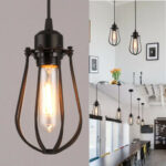 New              Vintage E27 Wall Lamp Retro Industrial Iron Shade Cage Ceiling Pendant Light AC110-220V