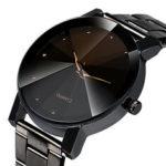 New              Fashion Casual Waterproof Stainless Steel Strap Men Quartz Watch