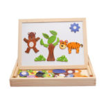 New              Wooden Magnetic Drawing Board Kids Early Educational Learning Jigsaw Puzzle S