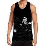New              Mens Funny Astronaut Print Black Sleeveless Sport Tank Tops