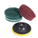 New              10mm Sanding Pad with 6pcs 100mm Round Fiber Polishing Pad Sanding Wheel Abrasive Tools