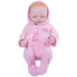 "New              11"" Real Life Lifelike Reborn Baby Dolls Full Silicone Sleeping Pink Cloth Girl"