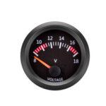 New              12V Voltmeter Voltage Gauge Vehicle Meter Black Shell 2 Inch 52mm