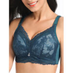 New              Wireless Lace Coverage Gather Underwear Thin Soft Breathable Bra