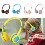New              Bakeey Cute Kids Over Ear Stereo Wired Safely Headphones Adjustable Headband Computer Tablet Kid Baby Child Earphone for Net Class