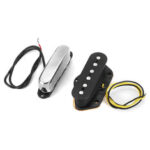 New              Wired Neck Bridge Pickup Replacement For Tele Electric Guitar Pickup Set Tools