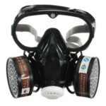 New              Respirator Gas Mask Safety Chemical Anti-Dust Filter Military Eye Goggle Set Workplace Safety Prote
