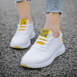 New              Women Running Breathable Fabric Non Slip Casual Sneakers