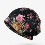 New              Women Flowers Cotton Lace Beanie Hat Ethnic Vintage Good Elastic Breathable Turban Caps