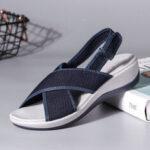 New              LOSTISY Peep Toe Casual Slingback Sport Sandals