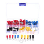 New              102PCS 10Kinds RV Ring Terminal Electrical Crimp Connector Kit Set With Box Copper Wire Insulated Cord Pin End Butt