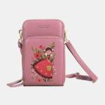 New              Women Printed Clutch Bag Card Bag Phone Bag Crossbody Bag Shoulder Bag