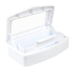 New              Portable Art Nail Sterilizer Disinfection Box Nail Tweezer Nipper Cleaner Sanitizer Tool