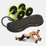 New              Multifunctional Abdominal Wheel Double Wheel Puller Muscle Roller Pull RopeAutomatic Rebound Sports Equipment