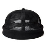 New              Men Mesh Cotton Skull Cap Retro Circular Adjustable Breathable Melon Hat Brimless Hats