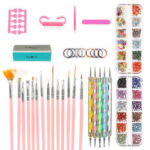 New              DIY Nail Art Painting Drawing Design Brushes Dotting Polish Pen Tool Set Kit