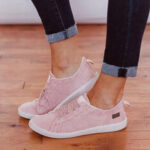 New              Large Size Women Elastic Band Casual Canvas Flats