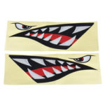 New              Shark Teeth Mouth & Eyes Waterproof Vinyl Decal Sticker For Car Shark Boat Kayak
