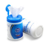 New              60Pcs Portable 75% Alcohol Wet Wipes Bucket Antiseptic Cleaner Disposable Wet Tissue Paper Sterilization for Personal Care in Travel Outdoor