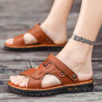 New              Men Open Toe Outdoor Slip On Soft Beach Sandals