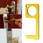 New              Portable Hygiene Hand Antimicrobial Metal EDC Door Opener Elevator Handle Key