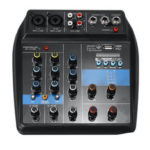 New              4 Channel USB Portable Audio Mixer bluetooth Home KTV Live Studio Audio Mixing Console