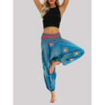New              High Waist Thai Ethnic Print Casual Loose Yoga Harem Pants