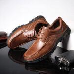 New              Menico Men Retro Microfiber Leather Non Slip Soft Casual Business Oxfords