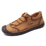 New              Menico Men Microfiber Anti-collision Toe Cap Slip Resistant Casual Shoes