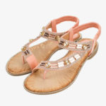 New              Women  Fashion Rhinestone Bohemia Wearable Clip Toe Sandals