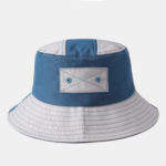 New              Collrown Blue Stitching Breathable Collapsible Fisherman's Hat Bucket Hat