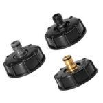 New              IBC Tank Garden Hose Threaded Cap 1/2″ 3/4″ Adapter Connector Fitting Black