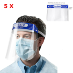 New              5PCS Anti-fog Transparent Plastic Full Face Shield Protective Face Mask Anti-Spitting Splash Facial Cover With Forehead Cushion