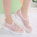 New              Women Casual Breathable Non-slip Mesh Cloth Slip-on Sneakers