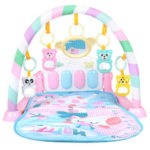 New              3-in-1 Plastic Baby Gym Play Mat Lay Play Fitness Fun Piano Light Musical Toys