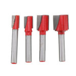 New              4pcs 1/4 Inch Shank Router Bit 5/16 3/8 1/2 5/8 Inch Bottom Cleaning Woodworking Cutter