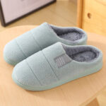New              Women Fur Lining Comfy Solid Color Home Slippers
