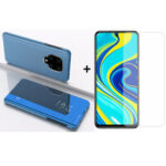 New              Bakeey 9H Anti-explosion Anti-scratch Tempered Glass Screen Protector + Skyblue Plating Mirror Window Shockproof Flip Full Cover Protective Case for Xiaomi Redmi Note 9s / Redmi Note 9 Pro / Redmi Note 9 Pro Max