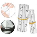 New              200Pcs Nose Bridge Strip Clip Face Mask DIY Material Self-adhesive Flat Aluminum Tools
