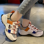 New              Women Casual Colorblock Comfy Wide Fit Running Sneakers