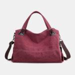 New              Women Casual Canvas Handbag Multi-carry Crossbody Bag