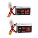 New              2Pcs URUAV 14.8V 550mAh 95C 4S Lipo Battery XT30 Plug for RC Racing Drone