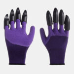 New              1 Pair Safety Gloves Garden Gloves Rubber TPR Thermo Plastic Builders Work ABS Plastic Claws