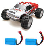 New              WLtoys A979B with Two Batteries 1/18 2.4G 4WD Monster Truck RC Car 70km/h RTR Model