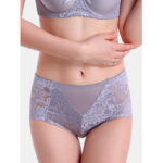 New              Women Flowers Lace Mid Waisted Hip Lifting Panties